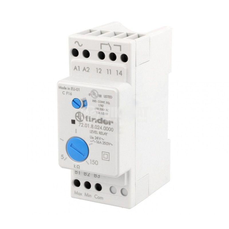 Level monitoring relay 72.01.8.024.0000, 24VAC, NO/NC, IP20, DIN