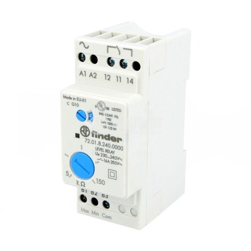 Level monitoring relay 72.01.8.240.0000, 240VAC, NO/NC, IP20, DIN