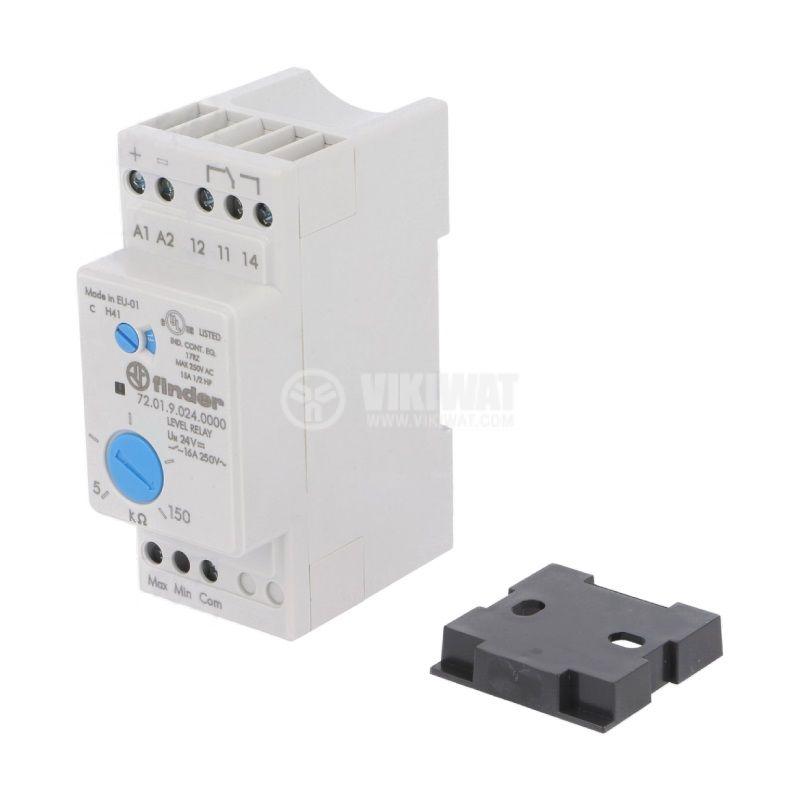 Level monitoring relay 72.01.9.024.0000, 24VDC, NO/NC, IP20, DIN