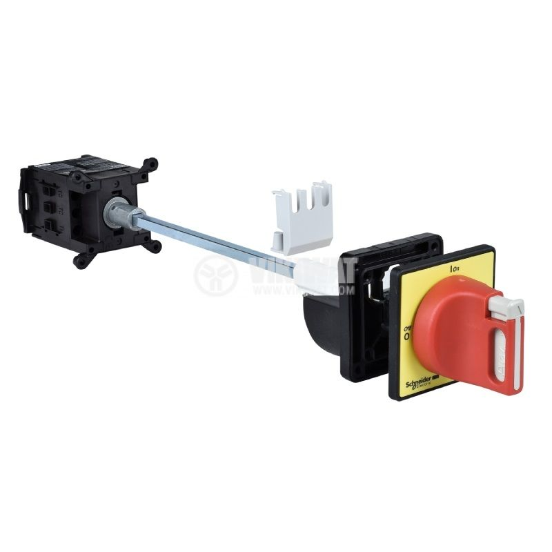 Rotary cam switch, 20А, 690VAC, extended axis, 3 contacts, 2 positions, VCCDN20, access control