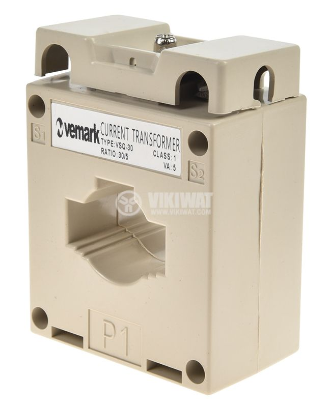 Токов трансформатор VSQ-30, 30/5А, 660VAC, клас 1 - 1