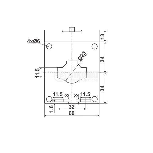 Токов трансформатор VSQ-30, 30/5А, 660VAC, клас 1 - 2