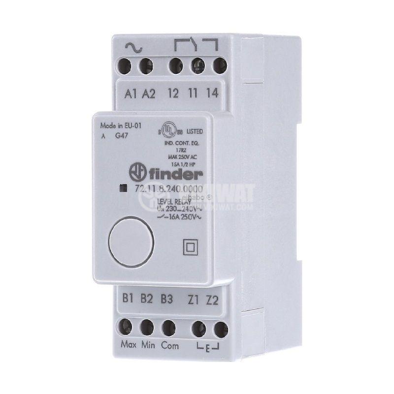 Level monitoring relay 72.11.8.240.0000, 230VAC, NO/NC, IP20, DIN