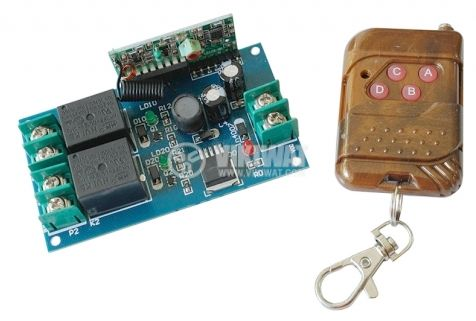 Module KIT, two channel remote control radio 315MHz, 1RC2, 12VDC