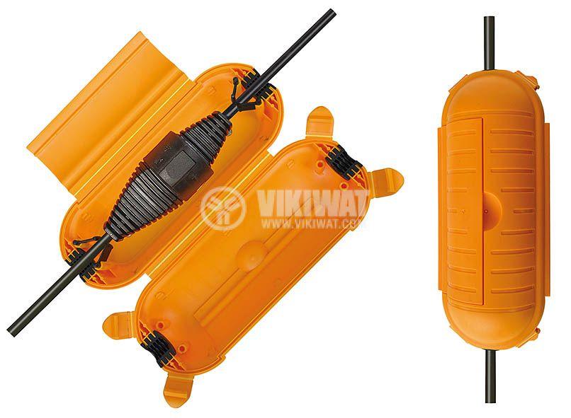 Оранжева кутия за предпазване на кабени съединения, IP44 влагозащитена, brennenstuhl - 1