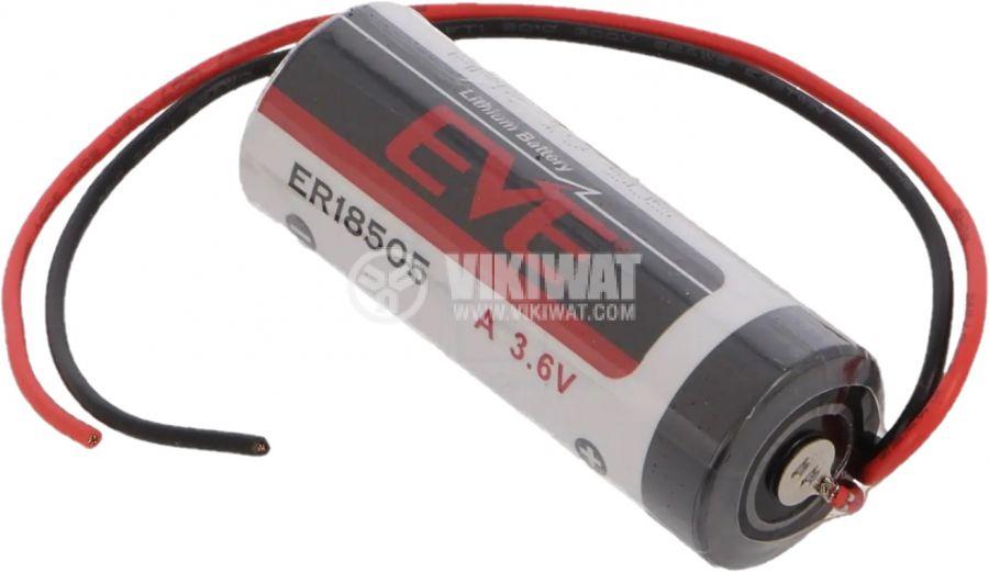 Батерия литиева EVE-ER18505 FL ф18.7x50.5mm 3.6V 3800mAh