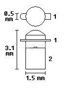 Светодиод VQ120C, инфрачервен, SMD