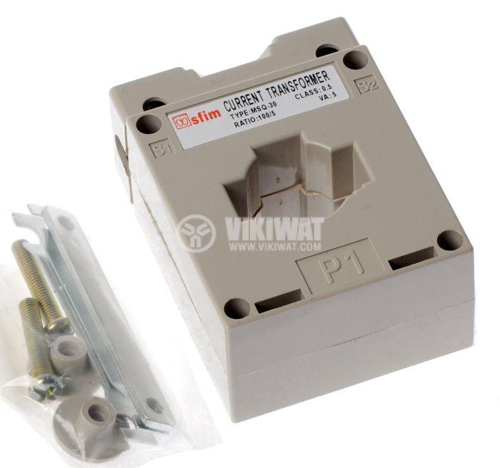 Токов трансформатор 100/5 А, MSQ-30 - 1