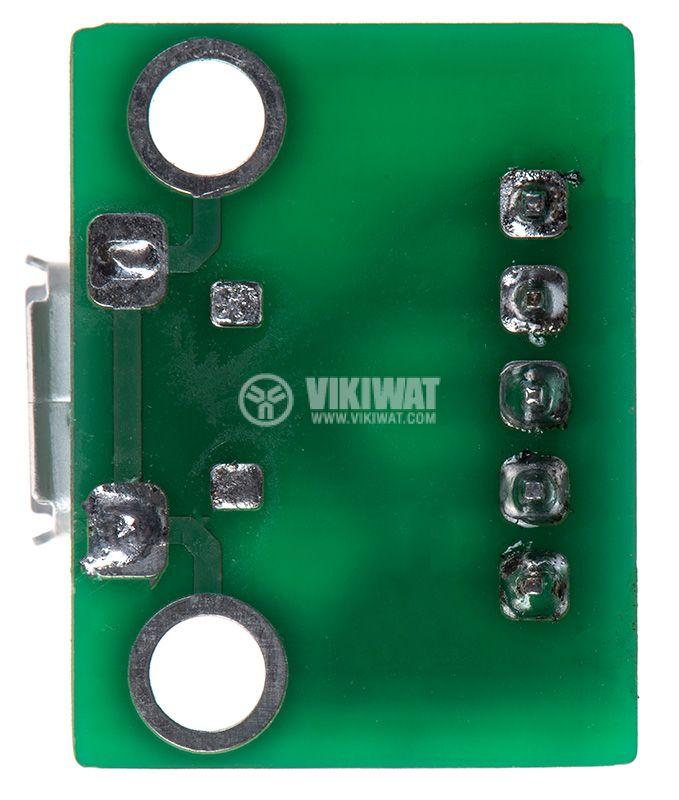 Универсален преходник от micro USB към рейка 5pin 2.54mm  - 4