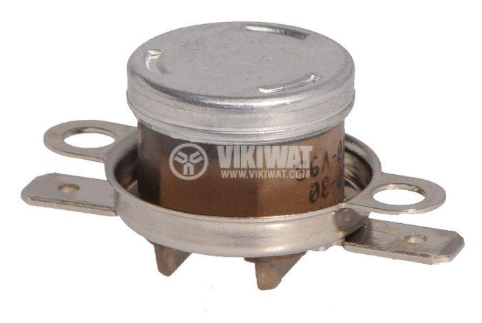 Термостат, биметален, KLIXON PK1-1F1, 140°C, NC, 16A/250VAC - 1