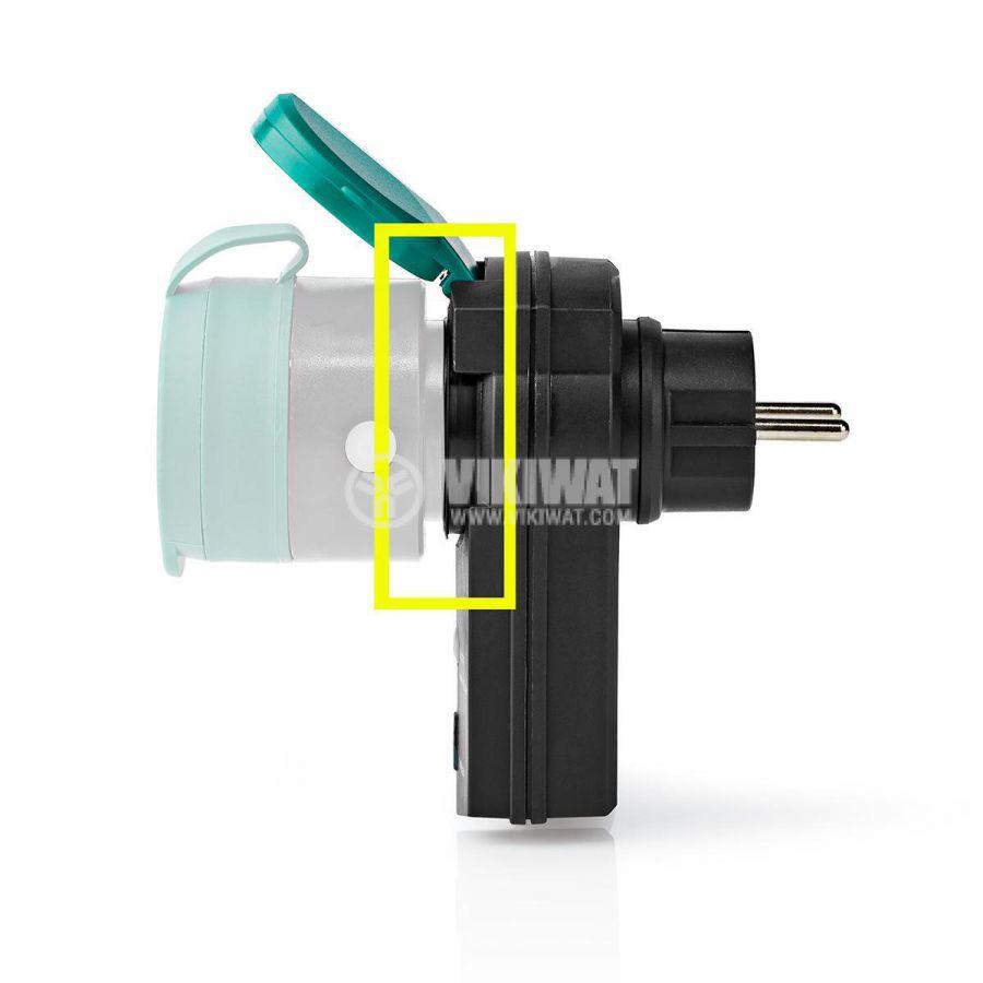 RF smart контакт RFPOM120FBK, разширител на обхват, IP44, 16A, 230VAC, NEDIS  - 6