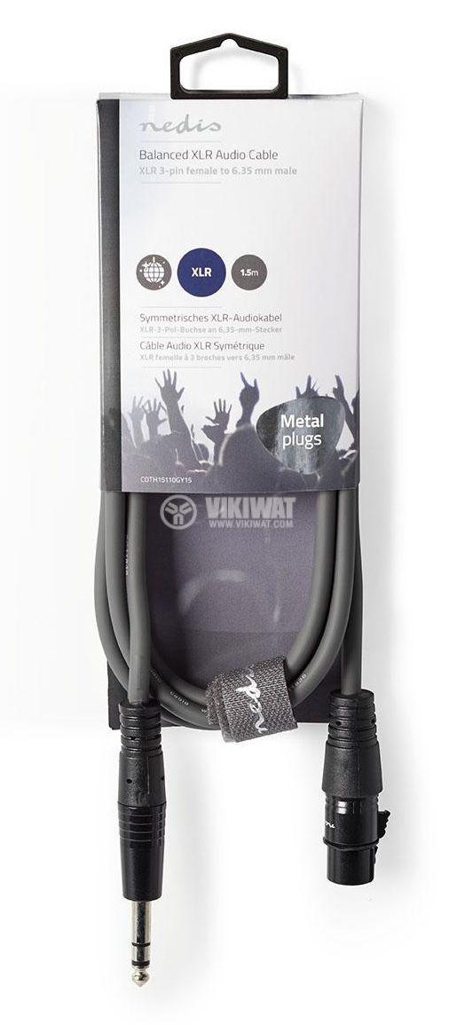 Аудио кабел стерео 6.3 mm - 3