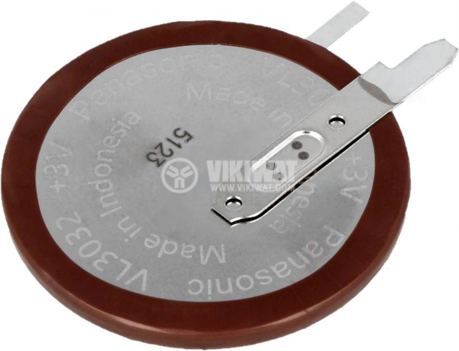 Акумулаторна батерия 3V, 100mAh, Li, за печатен монтаж