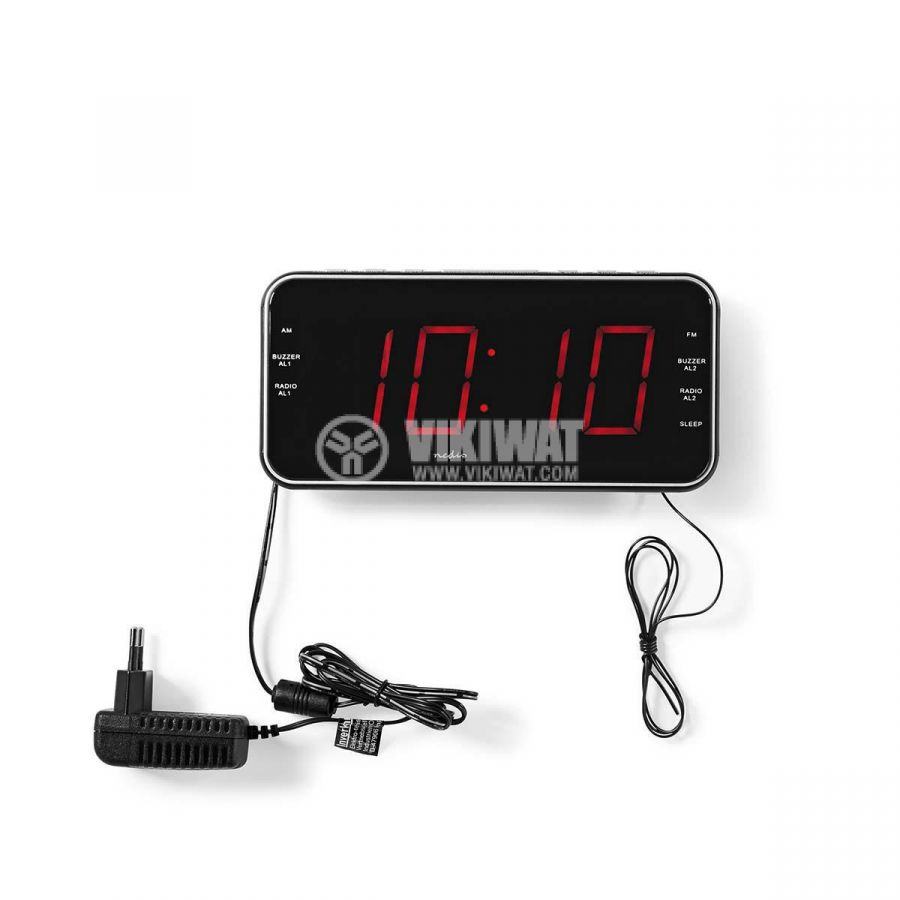 Digital clock with radio and alarm clock CLAR004BK - 7