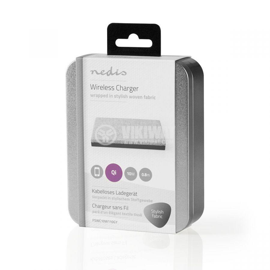 Безжично зарядно устройство за IOS и Android, 5/9VDC, 2A, Fast charge - 8