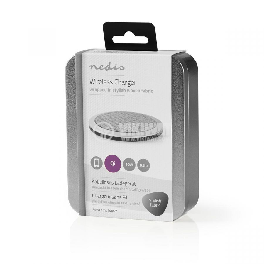 Безжично зарядно устройство за IOS и Android, 5/9VDC, 2A, Fast charge  - 7