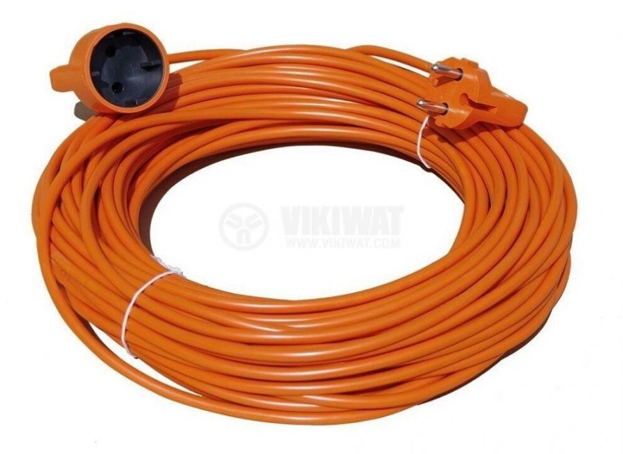 Удължител 20m 3x1mm2 PVC IP20 оранжев GAO 6602H