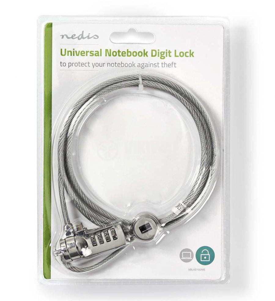 Кабел металн 1.8m NEDIS NBLKD100ME - 2