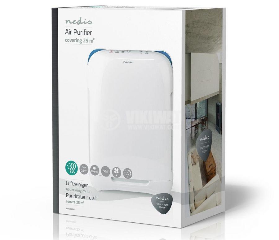 Air purifier, HEPA filter, ionizer, 230VAC, 50W, white, NEDIS AIPU200CWT - 9