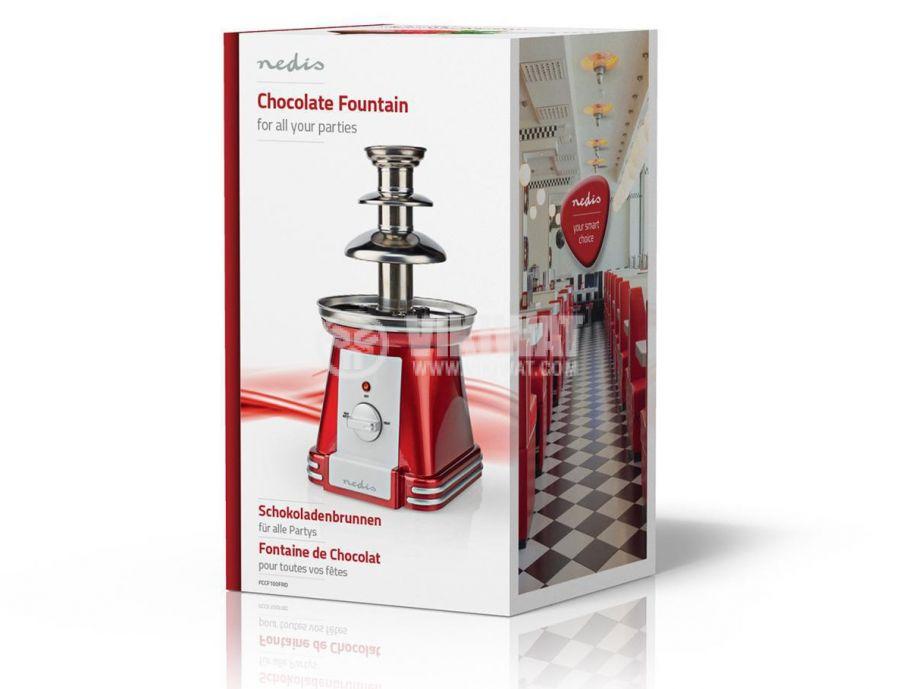 Chocolate fountain, 90W, 500ml, red/gray, FCCF100FRD - 7