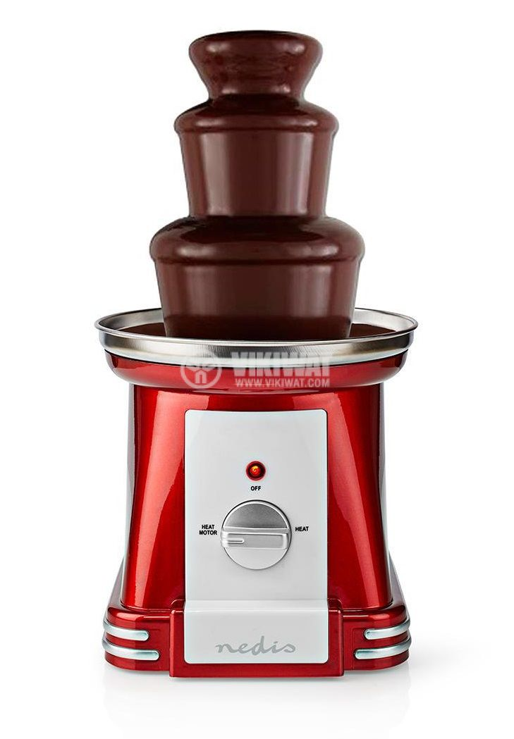 Chocolate fountain, 90W, 500ml, red/gray, FCCF100FRD - 2