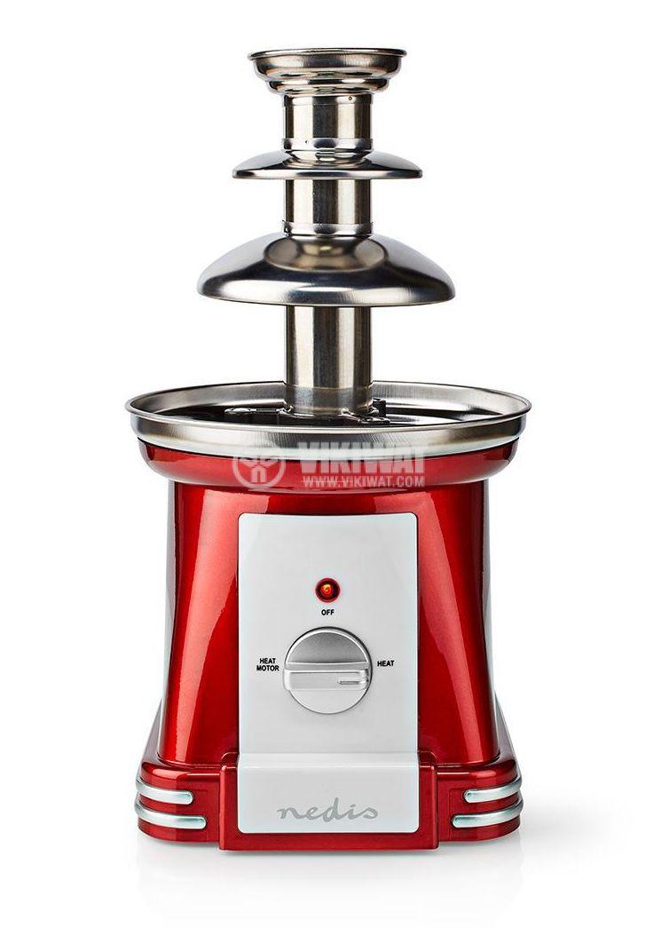 Chocolate fountain, 90W, 500ml, red/gray, FCCF100FRD - 1