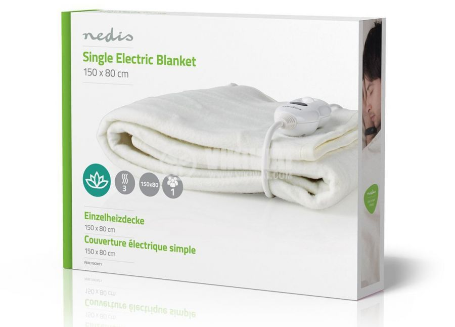 Електрическо одеяло, 80x150см, 3 настройки на затопляне, перящо - 8