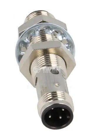 Индуктивен датчик 10~30VDC, PNP, NO, 4mm, M12x51mm, екраниран за куплунг - 2