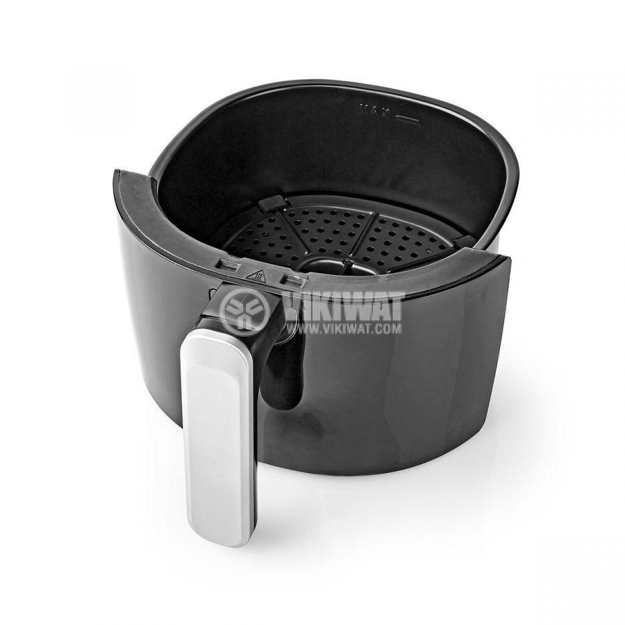 Уред за готвене с горещ въздух, Еър Фрайър, 2400ml, 230VAC, 1000W, черен, NEDIS KAAF120FBK - 5
