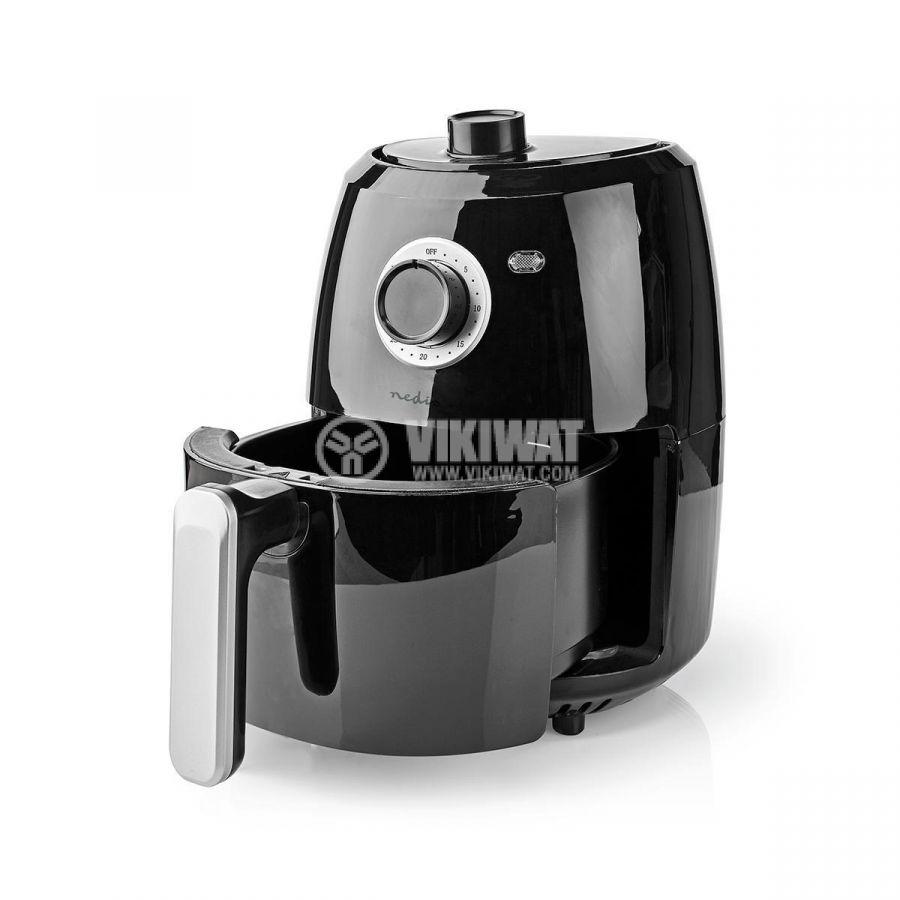 Уред за готвене с горещ въздух, 2400ml, 230VAC, 1000W, черен - 3