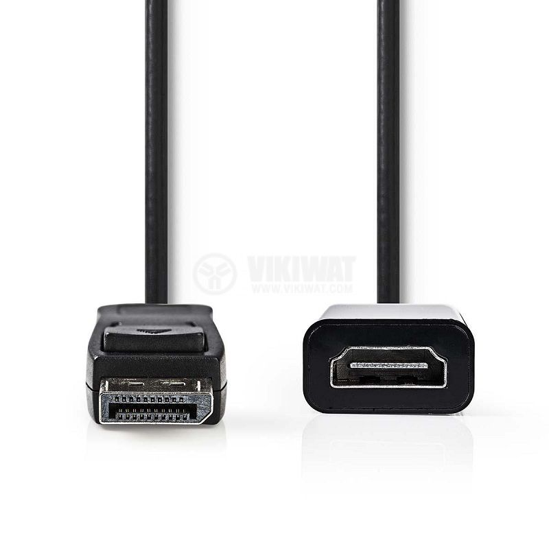 Преход DisplayPort/M - HDMI/F, FullHD, 0.2m, черен, CCGB37150BK02 - 2