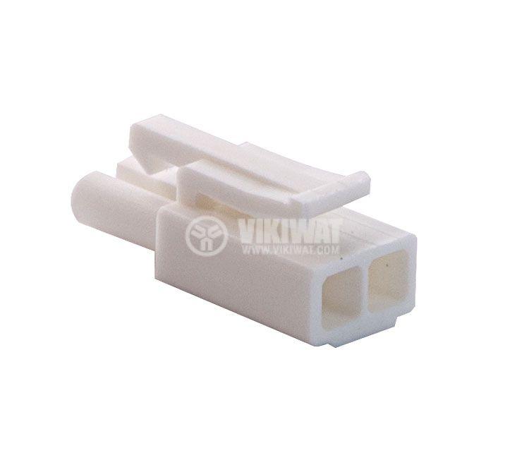 Конектор за обемен монтаж мъжки, VF45002-2P, 2 пина - 4