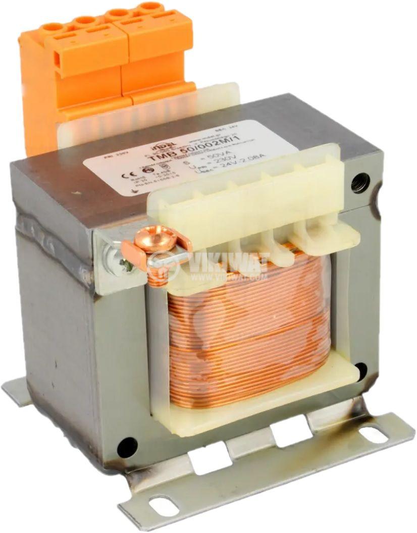 Трансформатор 230/24VAC 50VA Ш образен - 2