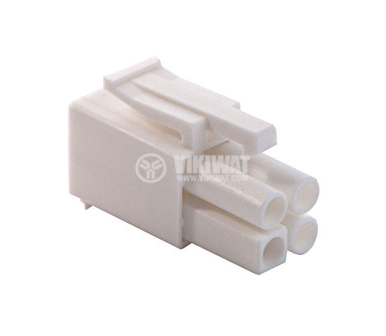 Конектор за обемен монтаж мъжки, VF45002-4P, 4 пина - 1