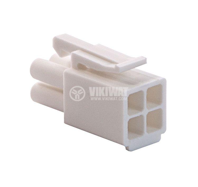 Конектор за обемен монтаж мъжки, VF45002-4P, 4 пина - 4