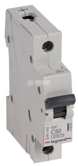 Circuit breaker, single-pole, 50A, C curve, 230/400VAC, DIN rail, 419207, LEGRAND