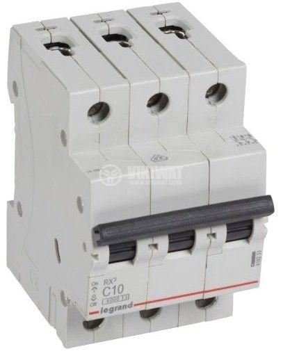 Предпазител автоматиче триполюсен 10A C крива 400V DIN 419233