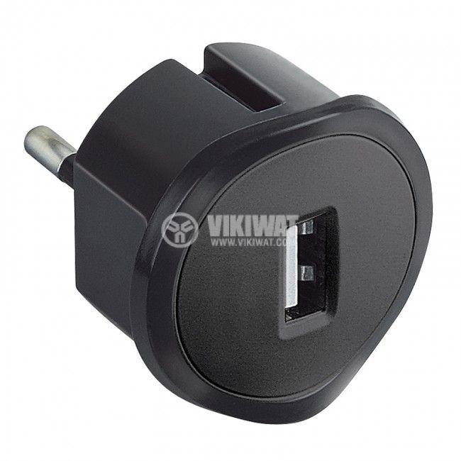 Зарядно за смартфон и таблет 1.5A 5V LEGRAND 50681 черно