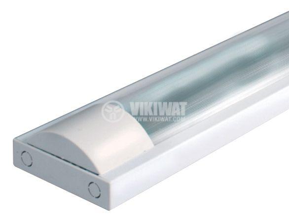 Луминесцентно осветително тяло 2x18 W, T8, 220 VAC, закрито, IP44, 620 mm