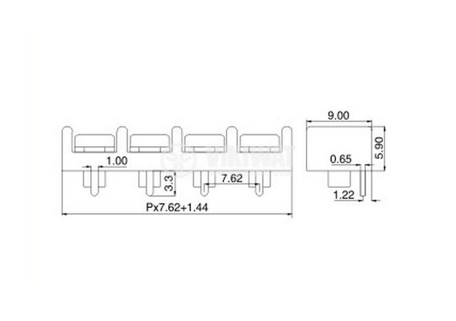 PCB,терминален,блок - 2