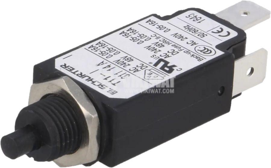 Токова защита T11-311-14A 240VAC/48VDC 14A еднополюсна