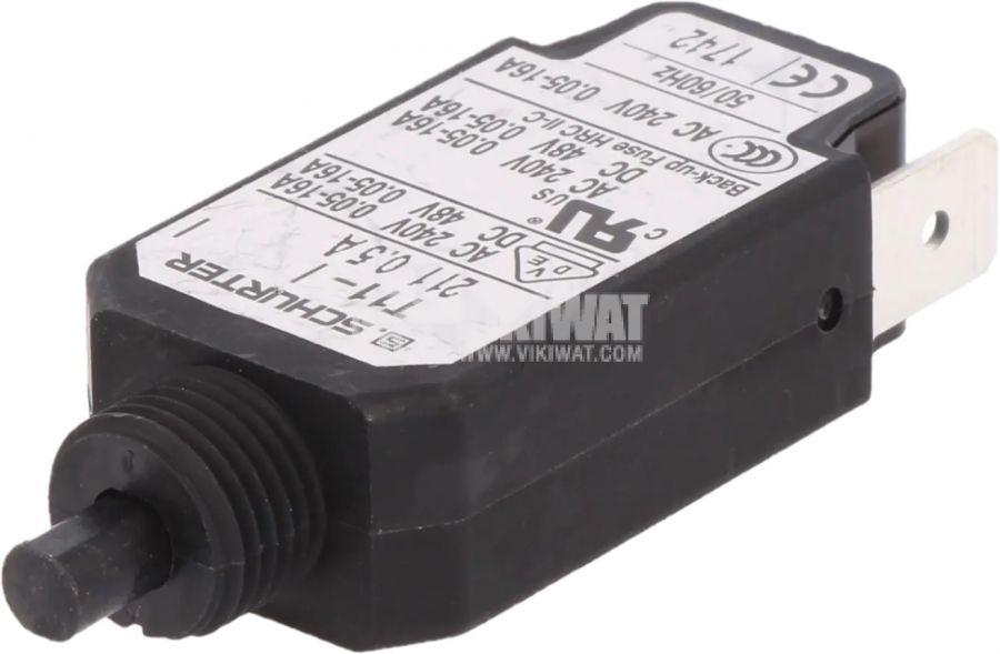 Токова защита T11-211-0.5A, 240VAC/48VDC, 0.5A, еднополюсна