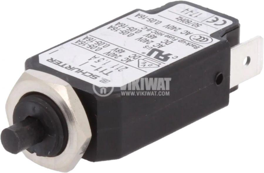 Токова защита T11-211-1.5A, 240VAC/48VDC, 1.5A, еднополюсна
