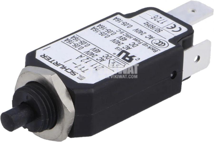 Токова защита T11-211-12A, 240VAC/48VDC, 12A, еднополюсна