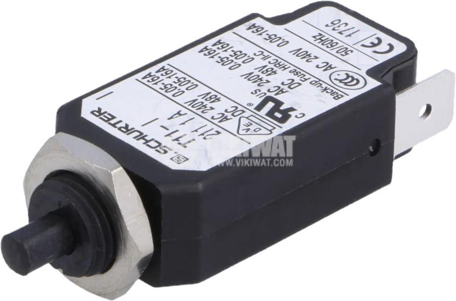 Токова защита T11-211-1A, 240VAC/48VDC, 1A, еднополюсна