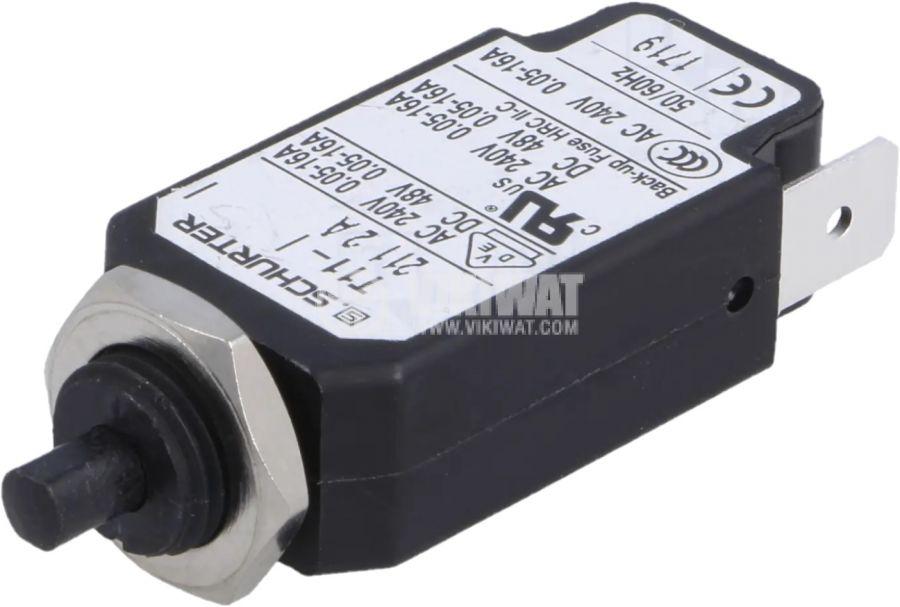 Токова защита T11-211-2A, 240VAC/48VDC, 2A, еднополюсна