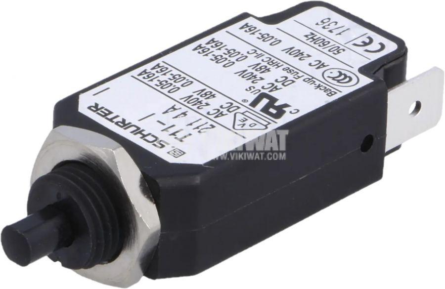 Токова защита T11-211-4A, 240VAC/48VDC, 4A еднополюсна