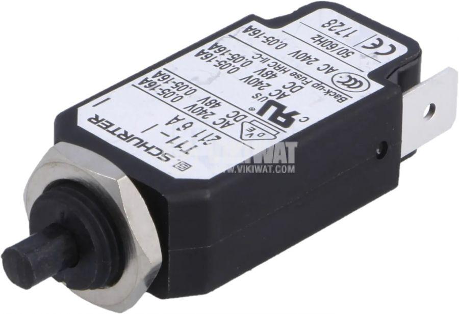 Токова защита T11-211-6A, 240VAC/48VDC, 6A еднополюсна