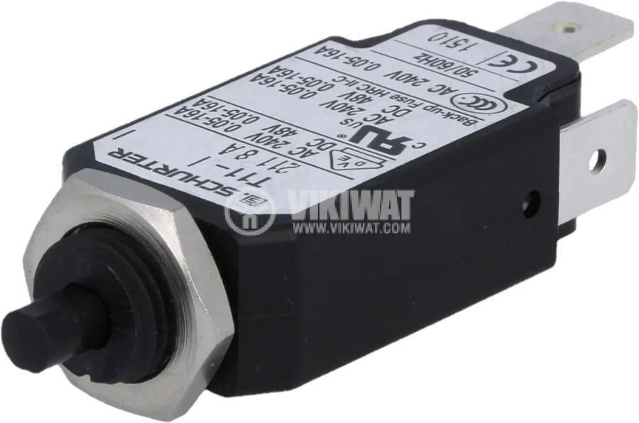 Токова защита T11-211-8A, 240VAC/48VDC, 8A еднополюсна