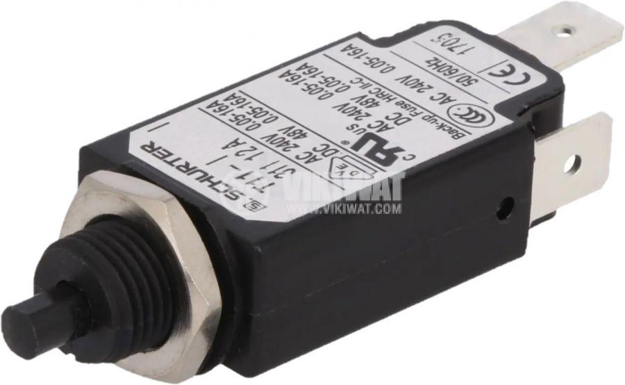 Токова защита T11-311-12A, 240VAC/48VDC, 12A, еднополюсна